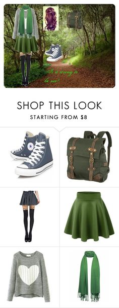 """""""The walk in the woods"""" by pockylover1 ❤ liked on Polyvore featuring Lake, Converse, United by Blue and Chicnova Fashion"""