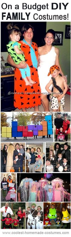 Top 11 DIY Family Halloween Costume Ideas on a Budget budget halloween diy #diy #halloween