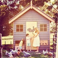 Our Rooster and Chicks stencil was spotted on Catriona Rowntree's chook house in Home Beautiful Magazine Australia. Raising Rabbits, Raising Backyard Chickens, Keeping Chickens, Chicken Coup, Chicken Runs, Rooster Stencil, Rabbit Farm, Butterfly Stencil, Doodle Doo