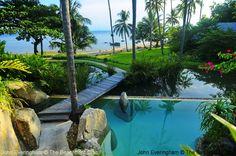 Laem Sett, Koh Samui, Thailand; Kamalaya Koh Samui is built up two hillsides with all rooms overlooking its beach.