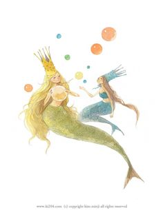 mermaid(s) a day Mermaid Illustration, Illustration Story, Kawaii Illustration, Illustration Art Drawing, Peter Pan Mermaids, Tarot, Mermaid Fairy, Fairytale Art, Whimsical Art