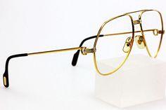 Cartier 1983 Rare 18K Gold Brille Original Must de Brillengestell ...