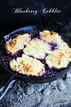 Blueberry Cobbler makes an easy and near-effortless dessert to serve for a weeknight meal, special occasion, or even entertaining. Get this recipe for use at home or while camping.