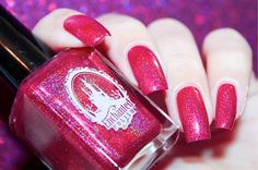 """Swatch of """"September a pink monhly nail polish from Enchanted Polish Red Manicure, Nails, September 2014, Enchanted, Nail Polish, Polish, Ongles, Finger Nails, Nail Polishes"""