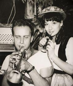Juliette Gréco et Boris Vian. Saint Germain des prés. Georges Dudognon.
