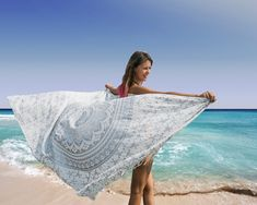 Bohemian Sarong, Mandala Pareo, Bikini Swimsuit Cover Up, Beach Blanket, Wrap Mandala Towel, Blue Lotus, Boho Chic, Boho Style, Beach Picnic, Beach Blanket, Flower Of Life, Swimsuit Cover, Mandala Design