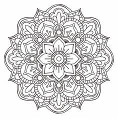 Drawing Doodle Flower Mandala Doodle - Doodle is Art Mandala Doodle, Mandala Art, Mandala Design, Croquis Mandala, Mandalas Drawing, Mandala Coloring Pages, Mandala Pattern, Doodle Art, Zentangles