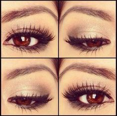 fluffy lashes, perfect night out makeup!