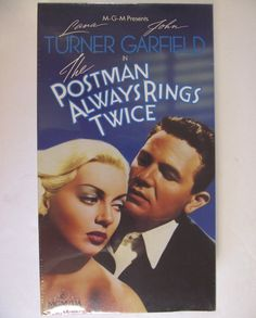 VHS The Postman Always Rings Twice Lana Turner John Garfield Classic Movie Factory Sealed NTSC NR 1989 Release James M. Cain Film Noir #43F by AdriennesAtticStore on Etsy