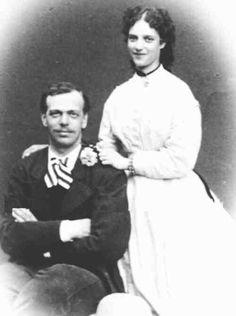 Tsarevich Alexander Alexandrovich Romanov of Russia with Princess Dagmar of Denmark.A♥W
