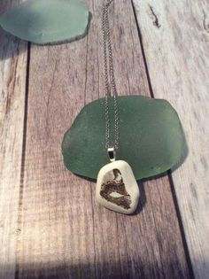 Pottery Shard / Sea Glass Necklace by JNsArtnTreasures on Etsy https://www.etsy.com/listing/553807054/pottery-shard-sea-glass-necklace