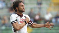 Rolando #Bianchi (Torino FC)  Rolando Bianchi of Torino FC celebrates after scoring the opening goal during the Italian Serie A match against Atalanta BC