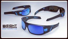 Black Matte Frame. Blue Mirror Polarized Lenses www.IWEAR8.com