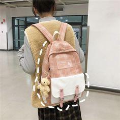 Harajuku Girls, Ladies Bags, Bags Uk, Cute Backpacks, Canvas Backpack, School Fashion, School Bags, Fashion Backpack, Kawaii