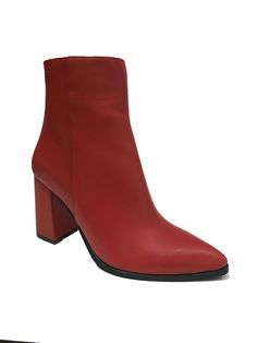 Leather Boots, Booty, Ankle, Collection, Shoes, Fashion, Moda, Leather Shoes, Swag