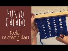 PUNTO CRIS CROS A DOS COLORES EN TELAR RECTANGULAR - YouTube