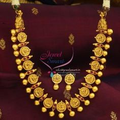 Indian_Traditional_Imitation_Temple_Jewellery_Laxmi_Necklace_Gold_Plated