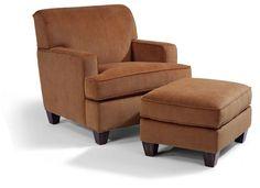Flexsteel Furniture: Lounge Chairs: DempseyFabric Chair & Ottoman (5641-10_5990-08)