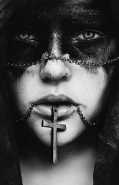 """Photograph by Cristina Otero (""""The Most Beautiful Scary Faces Youll See"""" at Odd Stuff Magazine) Dark Photography, Black And White Photography, Portrait Photography, Macabre Photography, Newborn Photography, Foto Portrait, Dark Portrait, Arte Obscura, Scary Faces"""