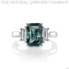 Natural Greenish Blue Sapphire Ring