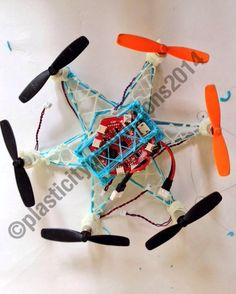 Man Creates Flying Hexacopter Drone With 3Doodler 3D Printing Pen http://3dprint.com/12158/3doodler-3d-printed-drone/