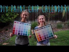 DIY Paint Chip Calendar! Perfect for a college dorm room! by sharon.smi