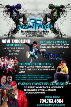 Fuzion Force Entertainment Academy Built In Tv Unit, Hip Hop Classes, Entertainment Center Redo, Computer Security, Class Schedule, Kids Tv, Dinners For Kids, Competition, Entertaining