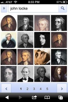 Google image search results for John Locke. One of these things is not like the others