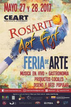 Rosarito Art Fest, es un Festival de Arte donde artistas, comunidad y coleccionistas interactúan en un ambiente de fiesta, se llevara a cabo los días 27 y 28 de mayo. Música en VIVO, gastronomía, productos locales, diseño, arte popular ¡Te esperamos! #Rosarito #BajaCalifornia Conoce más visitando www.facebook.com/rosaritoartfest