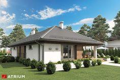 Projekt domu parterowego MORGAN II - wizualizacja 3 Narrow Lot House Plans, Tuscan House, Home Fashion, My Dream Home, Gazebo, Outdoor Structures, House Design, Architecture, House Styles