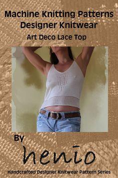 Art Deco Lace Top Knitting Pattern
