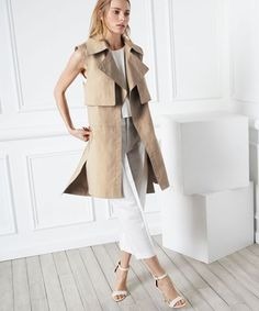 Long Chic Vests - Fall 2014 Outerwear | Beat the heat and get ahead of fall style with chic long vests, rounded up on Refinery29. #refinery29 http://www.refinery29.com/long-vests-fall