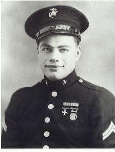 Corporal Anthony P. Damato, US Marine Corps Medal of Honor recipient Engebi Island, Eniwetok Atoll, Marshall Islands, World War II February 20, 1944. USS Damato (DD-871) was named in his honor.