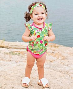 753dd3deaadb Too cute and perfect for your little one this summer! Our Puerto Vallarta  Swim is. RuffleButts.com