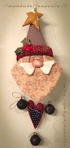 Items similar to Santa HoHoHo USA epattern on Etsy Christmas Makes, Christmas Door, Felt Christmas, Handmade Christmas, Christmas Holidays, Christmas Wreaths, Christmas Decorations, Christmas Ornaments, Christmas Sewing