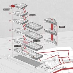 Image 45 of 57 from gallery of Zhejiang Factory / gad · line+ studio. Functional decomposition diagram of the complex Architecture Graphics, Architecture Portfolio, Concept Architecture, Architecture Design, Architecture Diagrams, U Glass, Abandoned Houses, Abandoned Castles, Abandoned Mansions