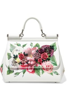 Dolce   Gabbana - Sicily medium embellished printed textured-leather tote a86741c9f2