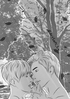 Namjin, Bts Kiss, Fanart, Kpop, Wallpaper, Wallpapers, Fan Art