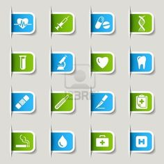 Label - Medical Icons Stock Photo - 14906409