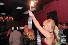 Sparklers fit into the open neck of a #champagne bottle or bottle of spirits.  Easy to light and will catch the eye of everyone in the room!  Find more info at www.buysparklers.com Bottle Sparklers, Small Fountains, Disco Party, Spice Things Up, Night Club, Birthday Candles, Crowd, Champagne, Traditional