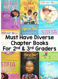 Diverse chapter books that your second and third grade students will love! Representation matters, and these series are the perfect addition to your classroom library. Second Grade Books, 3rd Grade Reading, First Grade, Grade 3, Fourth Grade, Class Library, Library Ideas, 3rd Grade Classroom, Classroom Design