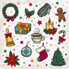 크리스마스,장식,eps 矢量,고선명 큼,抠图 면하다,자유형 벡터 Christmas Doodles, Christmas Drawing, Christmas Mood, Christmas Cards To Make, Christmas Stickers, Christmas Printables, Vector Christmas, Christmas Decorations Drawings, Christmas Craft Projects