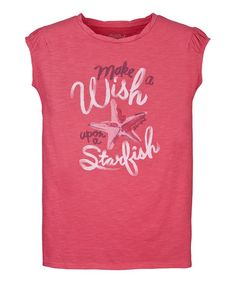 Take a look at this Azalea Pink 'Make a Wish' Starfish Tee - Girls by Life is good® Kids on #zulily today!