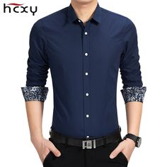 2016 Nueva Primavera Camisas de Algodón para hombre camisa para hombre de Manga Larga de Alta Calidad Slim Fit Camisa de los hombres Camisa Ocasional Moderna(China (Mainland))