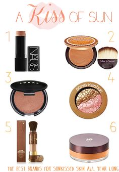 A Kiss of Sun! Top face bronzers