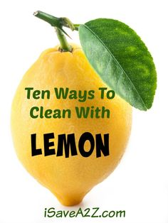 If you would prefer to get away from harsh chemical cleaners in your home, there are several options all around you. Lemon may be one of the best natural cleaners available. Check out these 10 ways to clean with this citrus fruit. Microwave Cleaning Hack, Diy Home Cleaning, Homemade Cleaning Products, Oven Cleaning, Cleaning Hacks, Homemade Mayonaise, Baking Soda Benefits, Clean Bathtub, Organisation