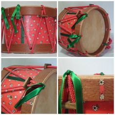 "Tambor infantil ""Joaninhas""  www.ateliegiramundo.com Drum, Music Instruments, Ladybugs, Hipster Stuff, Atelier"