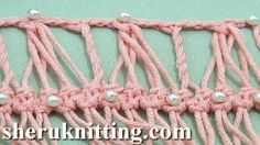 HAIRPIN DEVELOPING BASIC STRIP WITH ADDITIONAL http://sheruknitting.com/videos-about-knitting/srochet-hairpin-lace/item/487-hairpin-developing-basic-strip-with-additional.html  Tutorial 28. This hairpin crochet tutorial will help you to continue working with any of your hairpin basic strip/braid variation and create a nice texture with additional crochet by working into groups of loops and by making triple twisted loops.