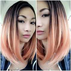 New hair color Peach balayage using Uberliss bond treatment