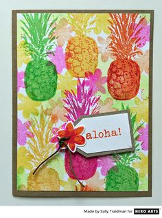 Welcome to Pineapple Palooza! Our Creative Team has been having tons of fun with the new Color Layering Pineapple stamp set and we can't wait to share what they've come up with.